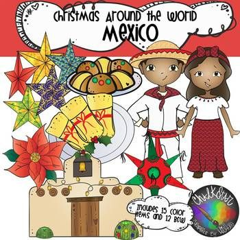 Christmas around the world. Parents clipart parent mexican
