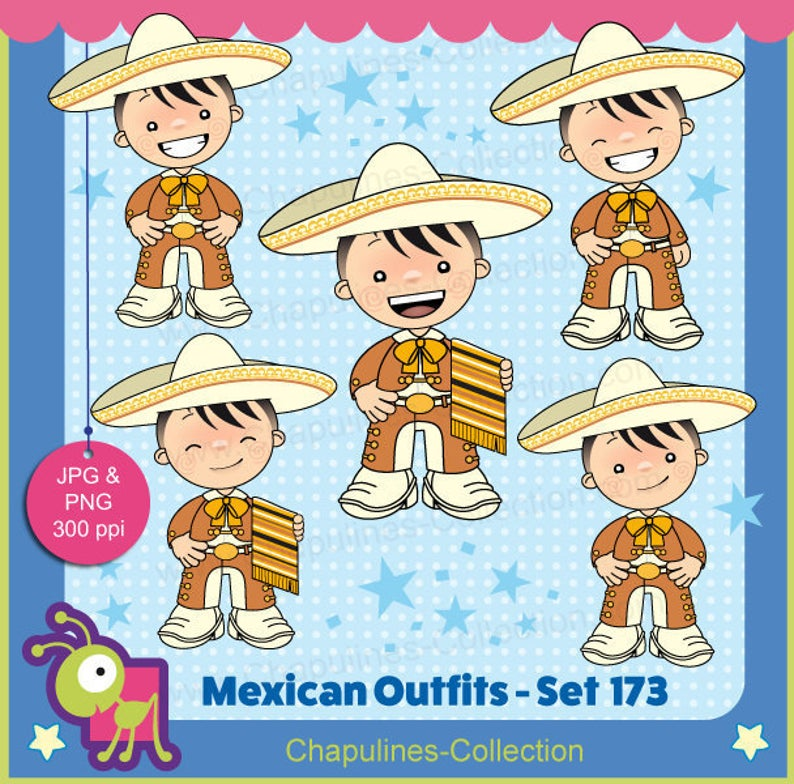 off orange and. Mexico clipart clothing mexican