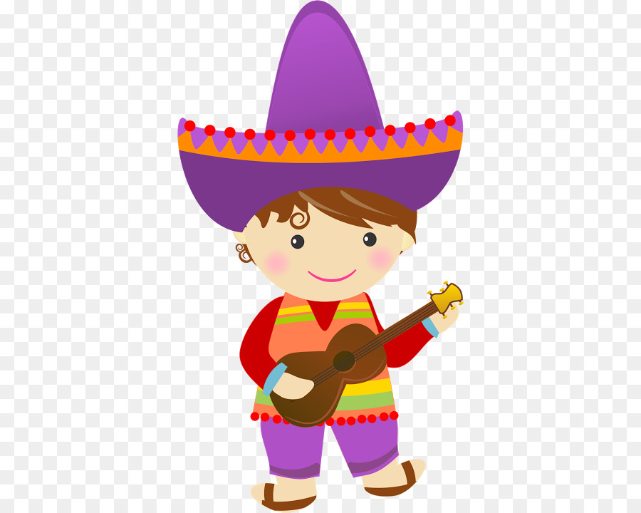 Mexico clipart fiesta mexicana. Cartoon party hat drawing