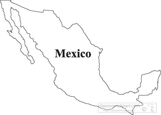 Mexico clipart outline mexico. Map portal
