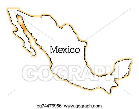 Vector illustration eps gg. Mexico clipart outline mexico