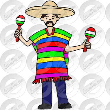 Picture for classroom therapy. Mexico clipart poncho mexican