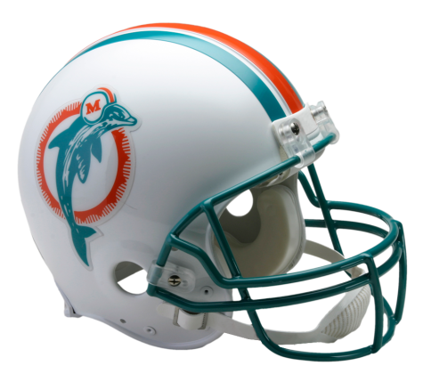 Miami dolphins helmet png. Vsr authentic throwback