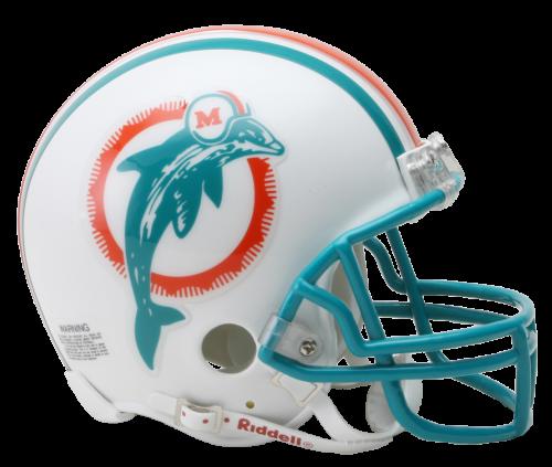 Miami dolphins helmet png. Vsr mini throwback footballhelmets