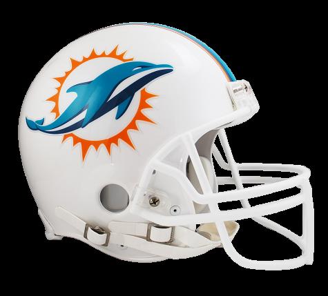 Miami dolphins helmet png. Vsr authentic