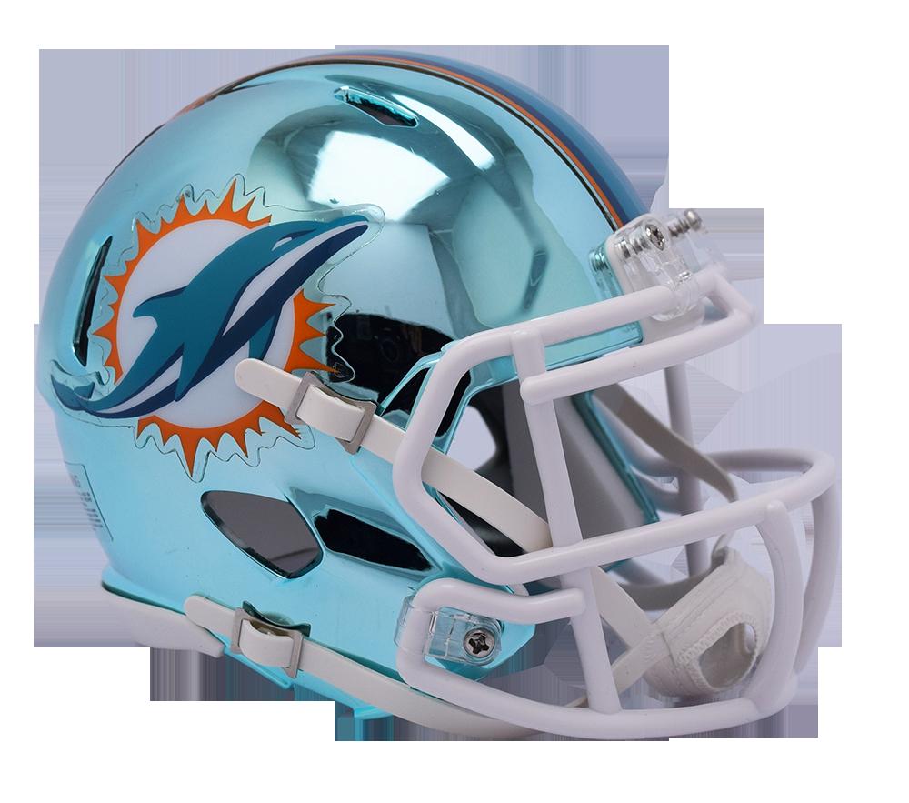 Miami dolphins helmet png. Chrome riddell speed mini