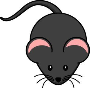 Cute mouse pink clip. Mice clipart