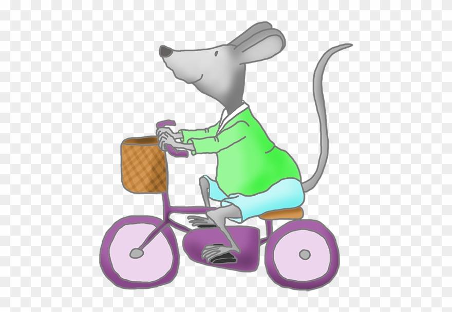 Cute clip art with. Mice clipart bike