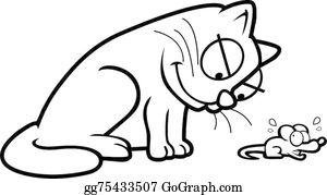 Mouse clipart cat. Cartoon clip art royalty