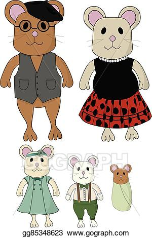 Mice clipart father. Vector stock cute mouse