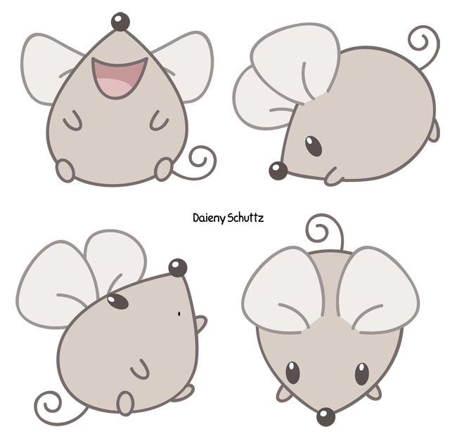 Mice clipart kawaii. Squeak mouse by daieny
