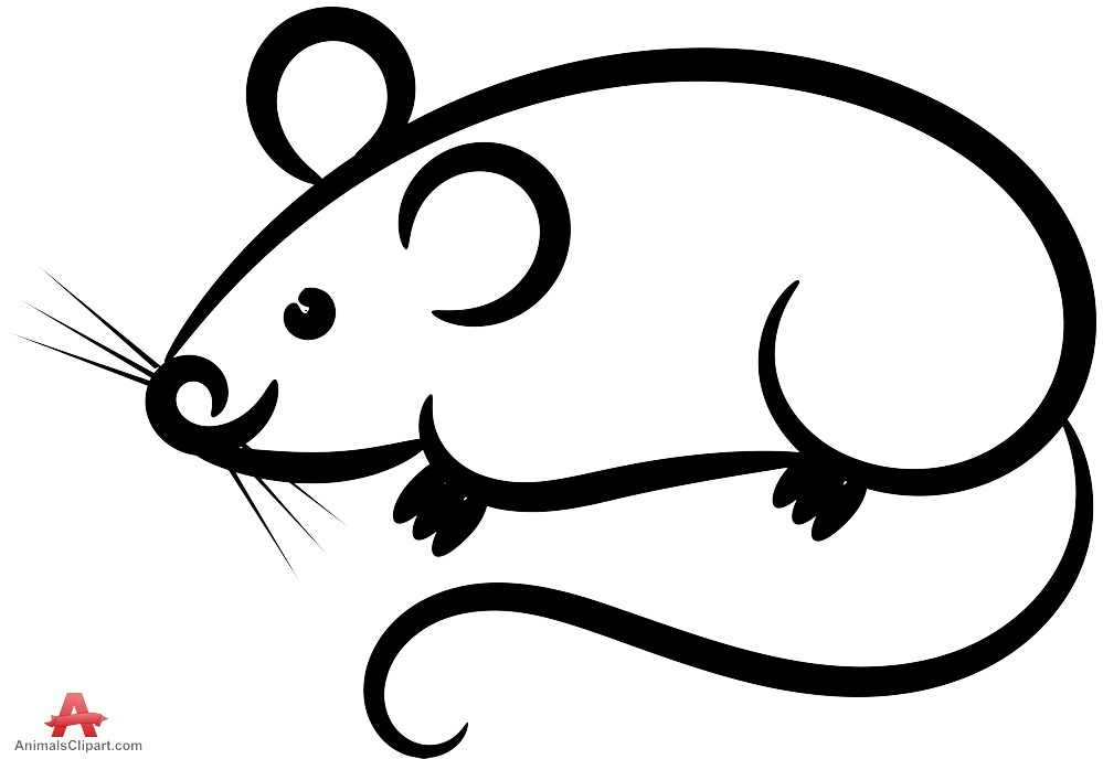 Free outline cliparts download. Mouse clipart simple