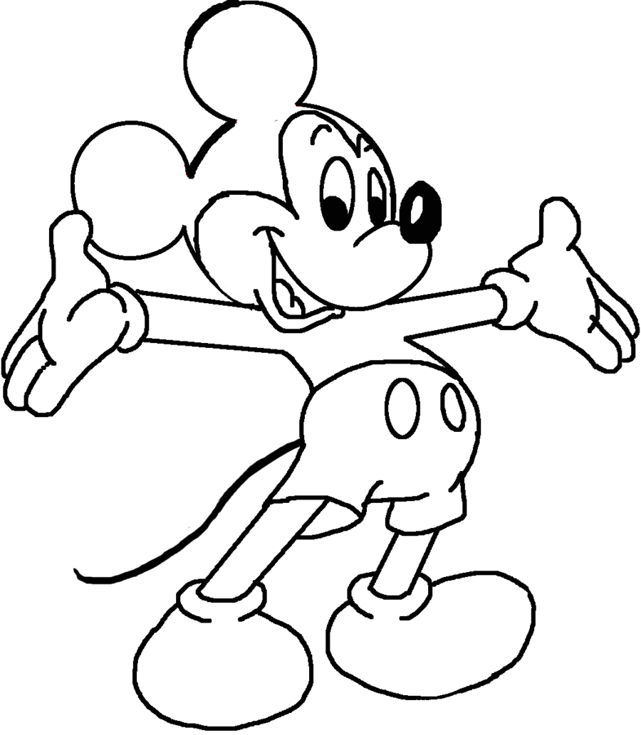 Mickey clipart drawing. Mouse lineart by primavistax