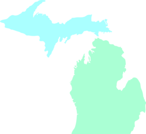 Map clean teal clip. Michigan clipart