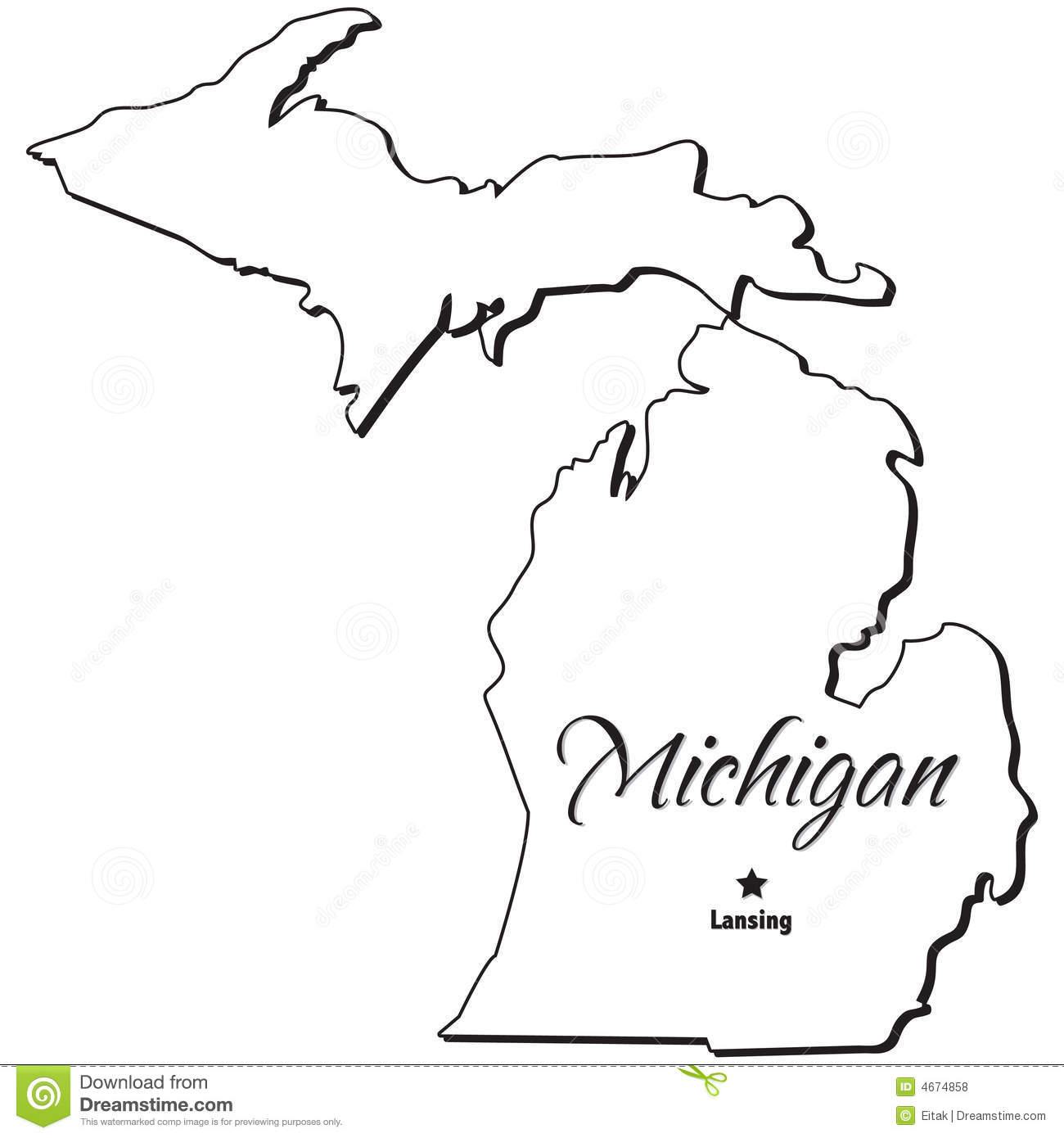 Michigan clipart. State outline