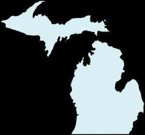 Michigan clipart. Mapclean teal clip art