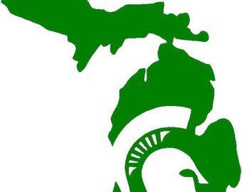 Michigan clipart decal. Love state vinyl sticker
