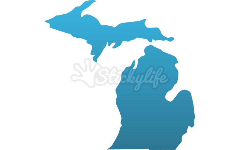 Michigan clipart decal. Decals