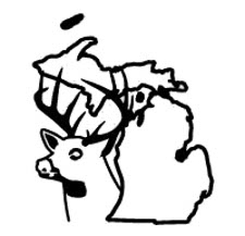 Michigan clipart decal. State deer