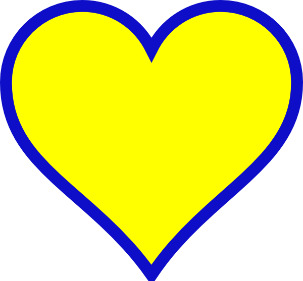 Blue gold png svg. Michigan clipart heart
