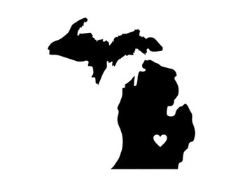 Michigan clipart heart. Free download best on
