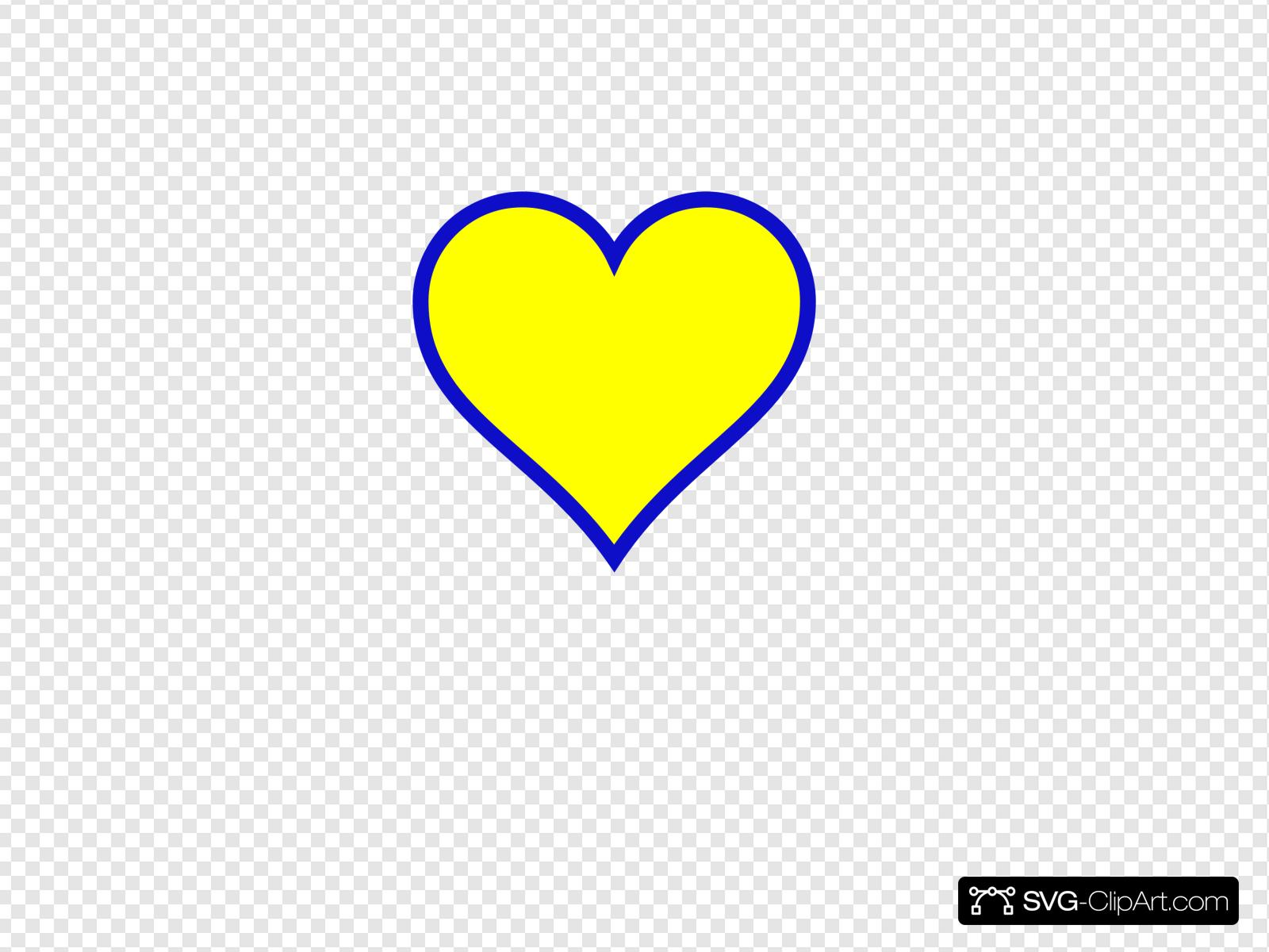 Blue gold clip art. Michigan clipart heart