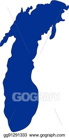 Michigan clipart lake. Vector stock silhouette