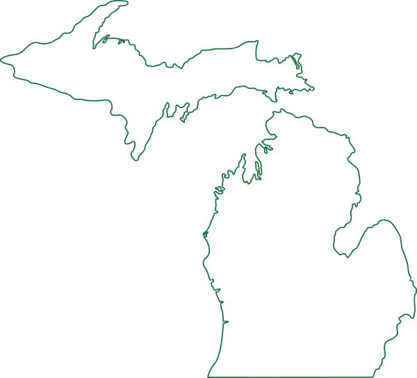 R clipart capitol. Michigan map outline clip