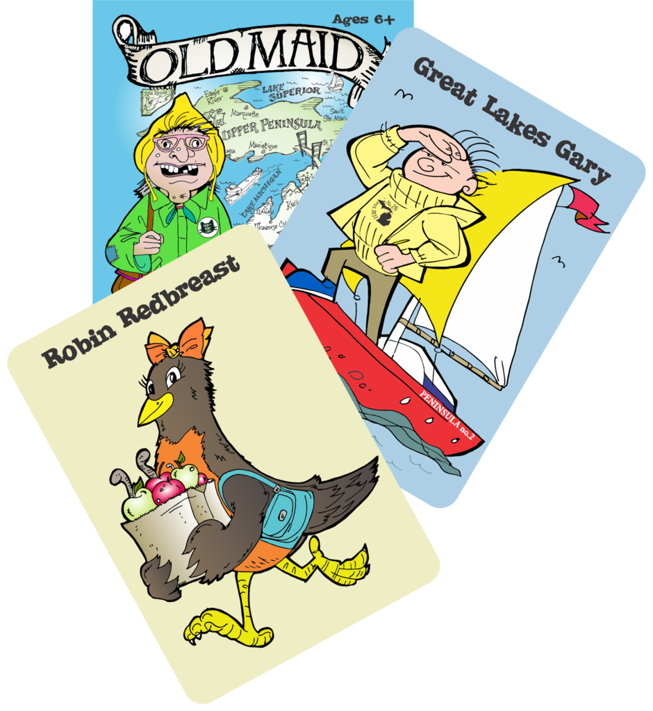 Old maid in michigan. Mittens clipart yellow