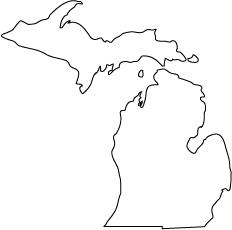 Outline cliparts zone . Michigan clipart mitten