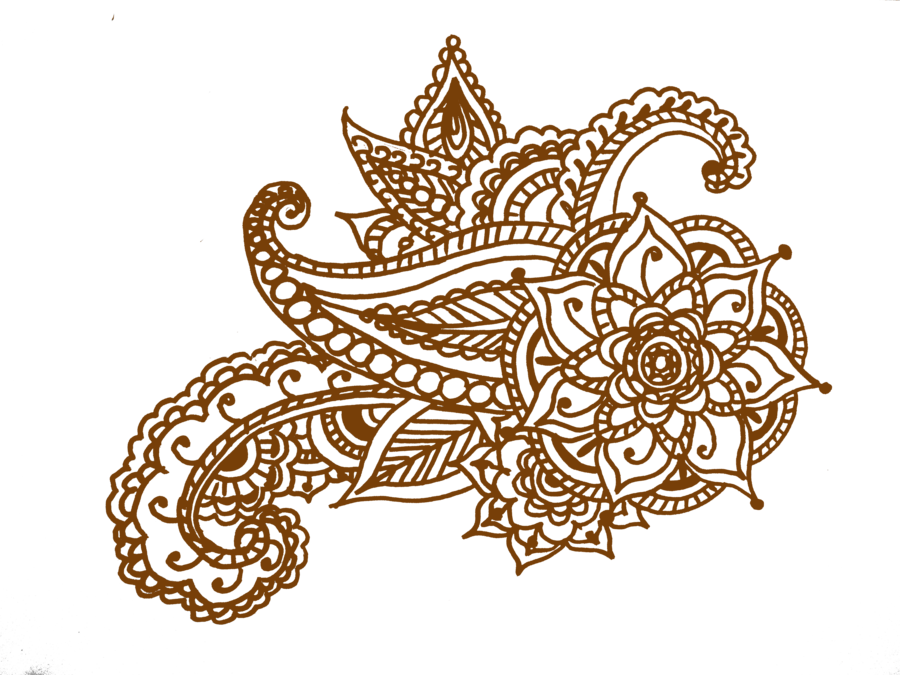 Paisley clipart indian hindu. Henna design by twist