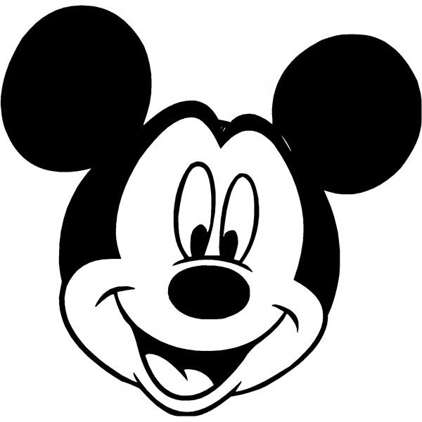 Mickey clipart. Mouse clip art silhouette