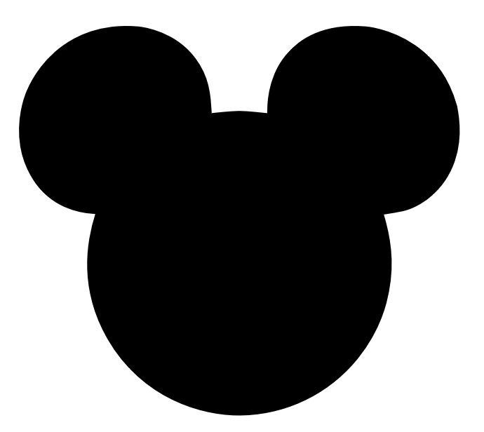 Mickey clipart. Free download silhouette for