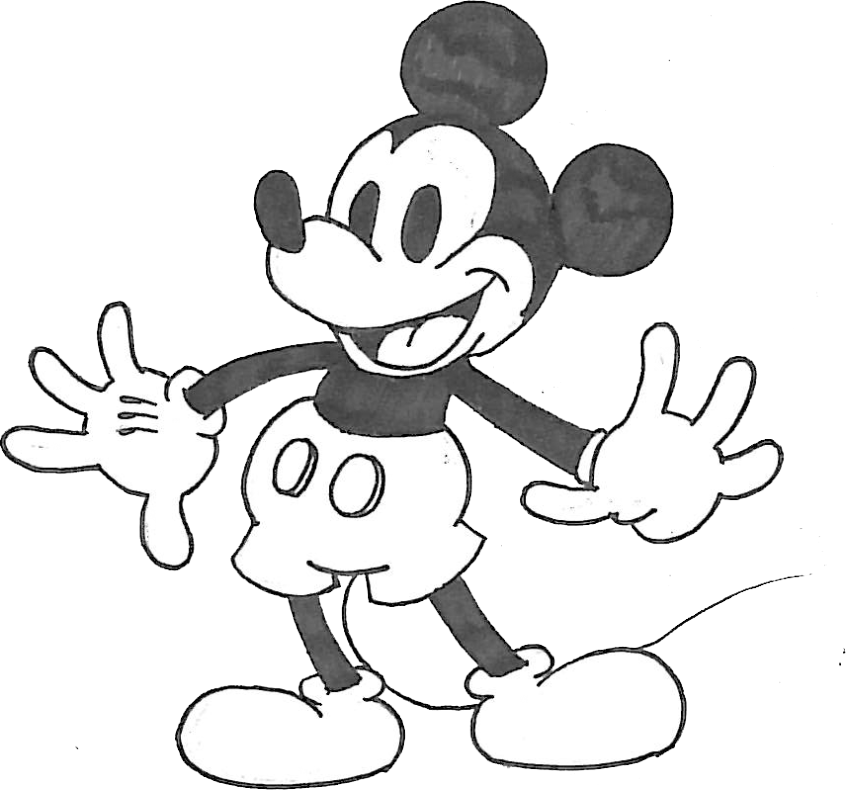 Mickey clipart drawing. Gangsta mouse at getdrawings