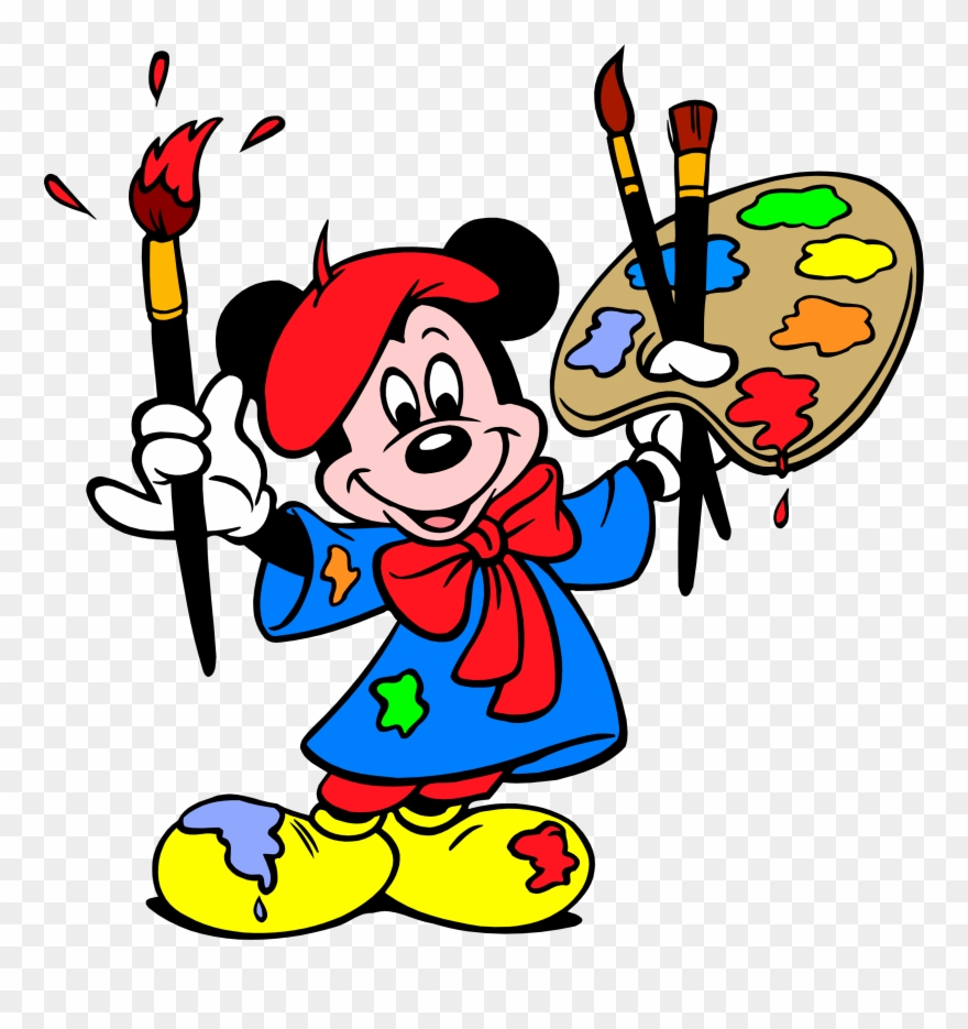 Mais mickey em png. Mouse clipart painting