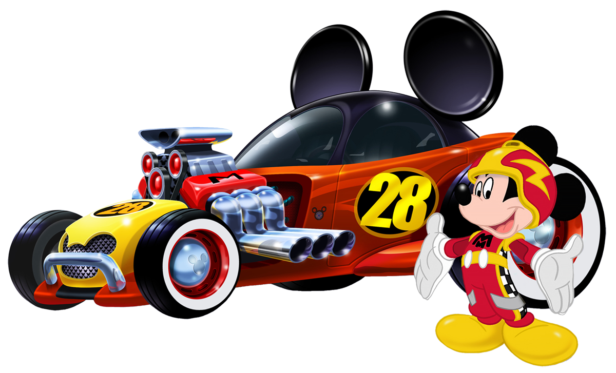 Race clipart motorsport. Mickey mouse sports wracecar