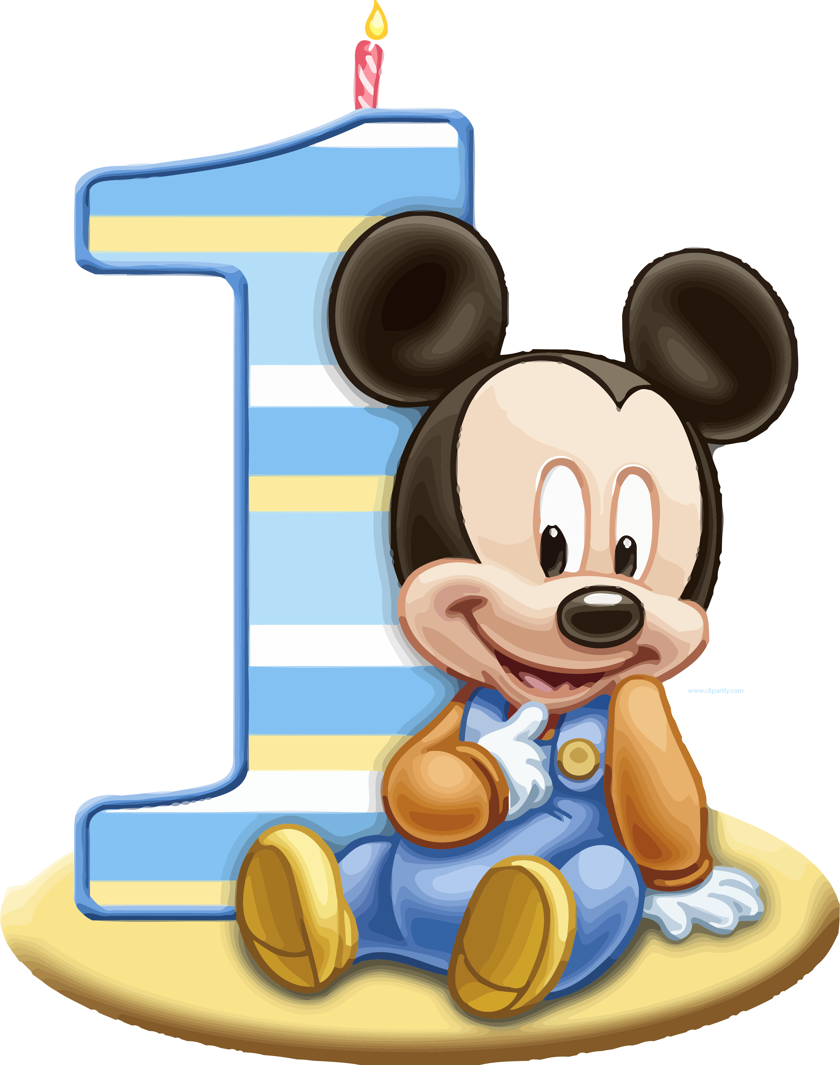Baby one png clipartly. Mickey clipart tree