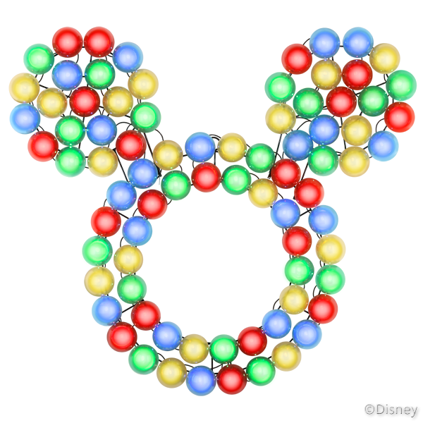 Mickey clipart wreath. Mouse led lighted