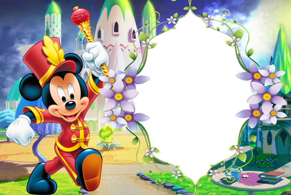 Mickey mouse frame png. Kids transparent photo with
