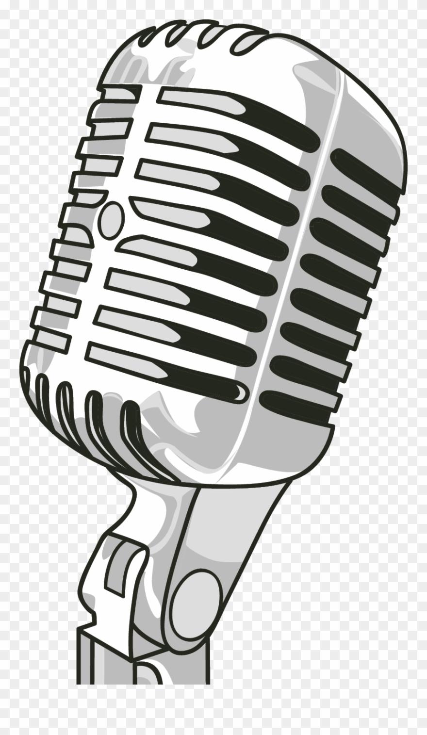 Microphone clip art poster. Air clipart radio mic