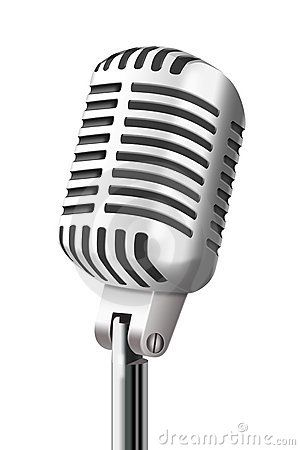 Vintage at clkercom vector. Microphone clipart