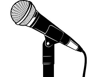 Microphone clipart. Etsy singer audio voice