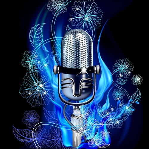 design images music. Microphone clipart abstract