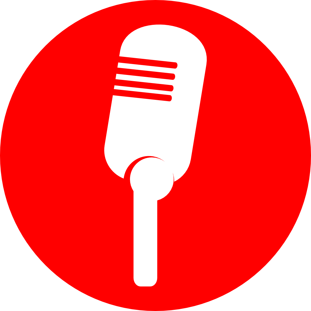 Microphone clipart announcement. Onlinelabels clip art icon