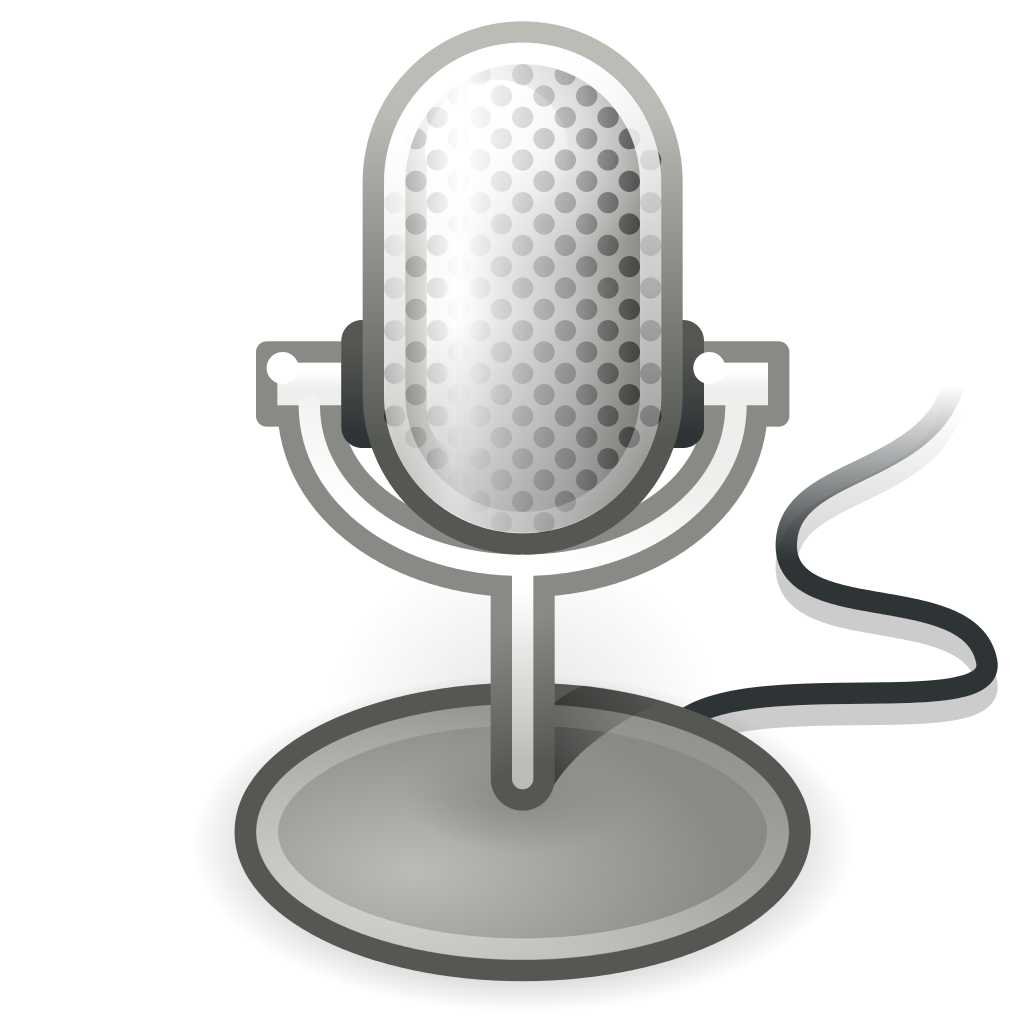 Microphone clipart audio. File gnome input svg
