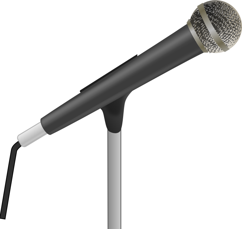 Clip art to free. Microphone clipart coloring page