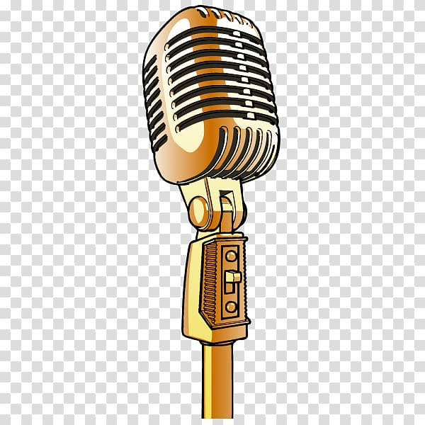 Microphone clipart condenser microphone. Gold colored