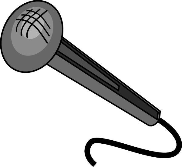 Clip free vector in. Microphone clipart design art