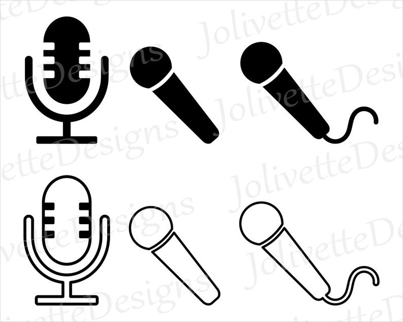 Mic music rap record. Microphone clipart design art