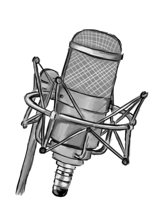 Microphone clipart drawing. Illustrations www brookedahmen com